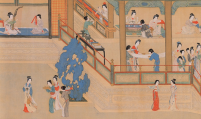 Giao lĩnh quây thường trên tranh vẽ thời Minh