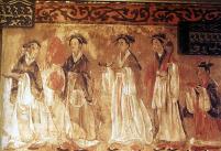 Giao lĩnh quây thường trên tranh vẽ thời Hán